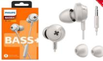 AURICULARES PHILIPS SHE-4305WT/00 BLANCO BASS+ IN EAR CON MICROFONO