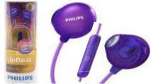 AURICULARES PHILIPS SHE-2305PP VIOLETA UP BEAT IN EAR CON MICROFONO